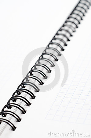 Notebook with black wire