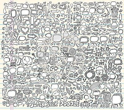 Notebook Doodle Design Elements Vector Illustration
