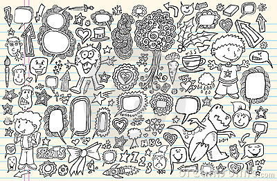 Notebook Doodle Design Elements Vector Set
