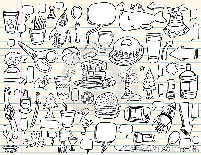 Notebook Doodle Design set