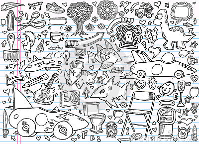 Notebook Doodle Elements Vector Set