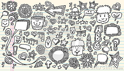 Notebook Doodle Sketch Design Elements