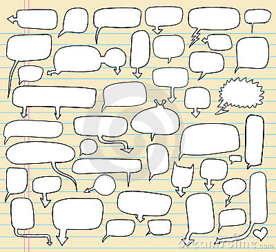 Free Notebook Doodle Speech Bubble Stock Photography - 14630972