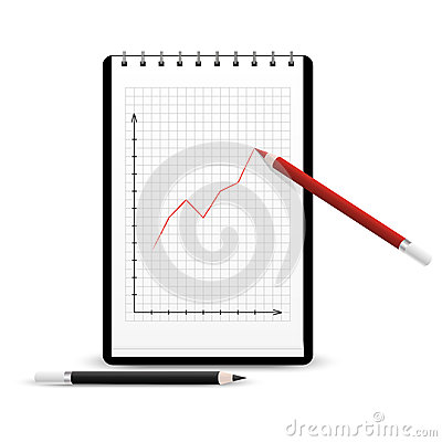 Notebook with graph