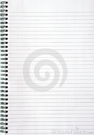 Notebook with lined paper