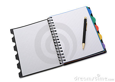 Notebook - organizer with the stylish pen