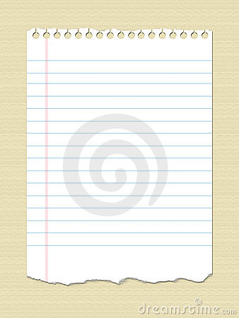 Notebook Paper Royalty Free Stock Photography - Image: 8646397