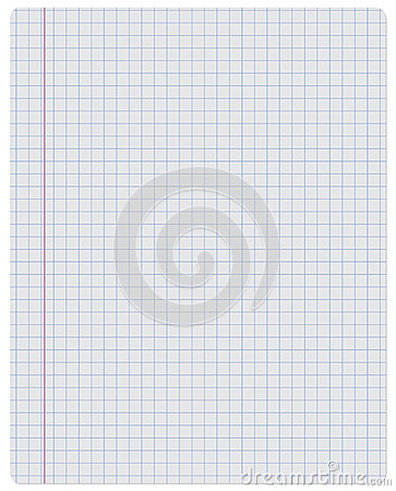 Notebook paper checkered stock vector image 47442407 - Wash white sheets keep fresh ...