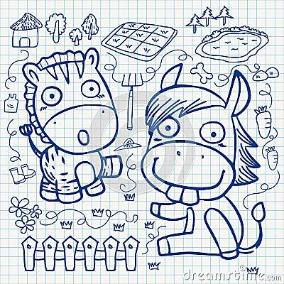 Notebook paper doodles