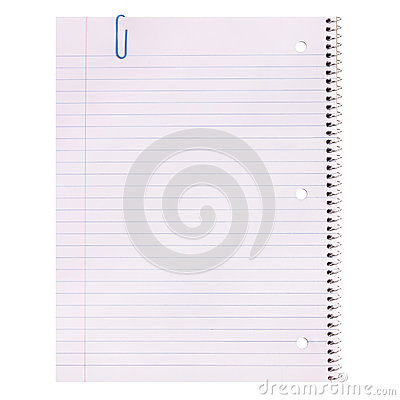 Notebook Paper Isolated Lined Blank Photo Image 43756933 – Lined Blank Paper
