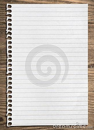 Free Notebook Paper Sheet. Stock Image - 14398151