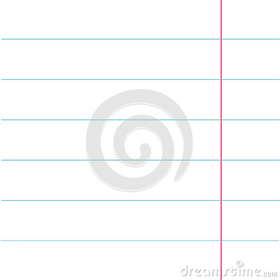 Notebook Paper Texture Lined Page Template. Red Line. Blank Sheet Of  Copybook Background. Flat Design. Vector Illustration  Lined Page Template