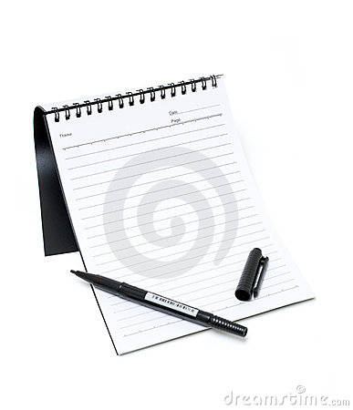 Notebook and Pen (Clipping path)