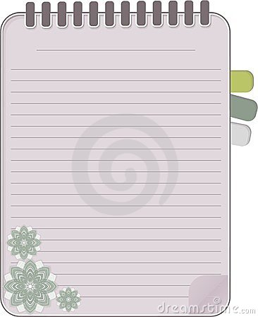 Notebook vector with floral
