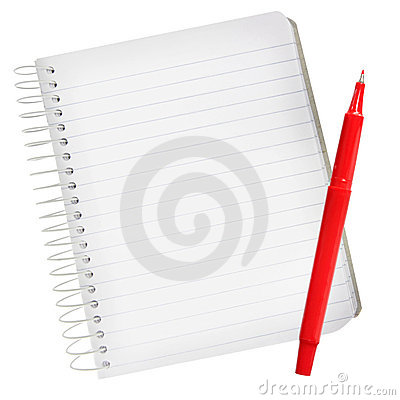 Free Notebook With Red Pen Royalty Free Stock Images - 7947529