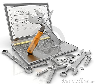 Free Notebook With The Tools And Fasteners Of Details For Repair Royalty Free Stock Photo - 29487685