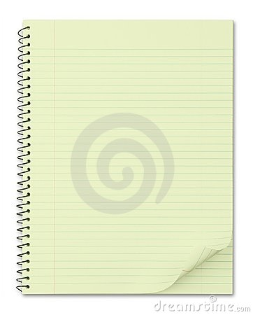 Free Notebook With Typical Yellow Recycled Paper Stock Photography - 9425352