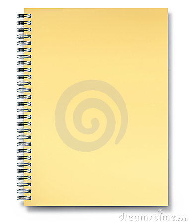 Notebook yellow paper blank