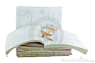 Notebooks of mathematician