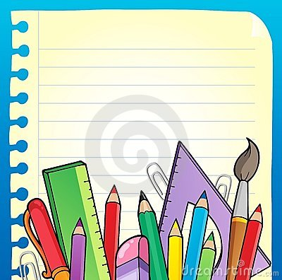 Notepad blank page and stationery 2