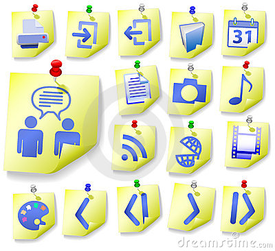 Notepad Memo Peel Icon Set 2