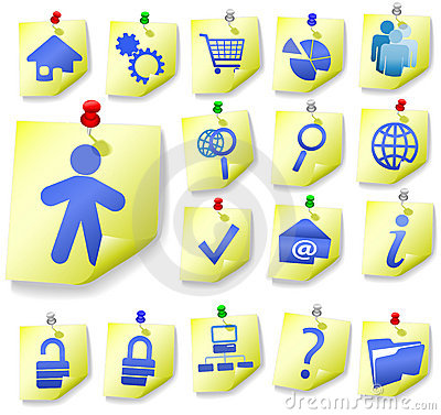 Notepad Memo Peel Icon Sets 1