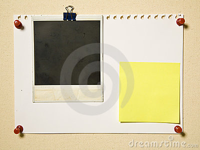 Notepad Page With Camera Frame And Note Royalty Free Stock ...
