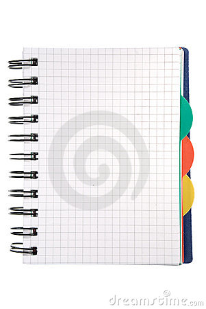 Notepad on white