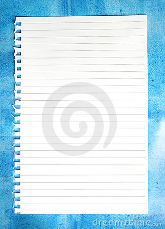 Notepaper on Blue