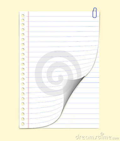 Notepaper (with clipping path)