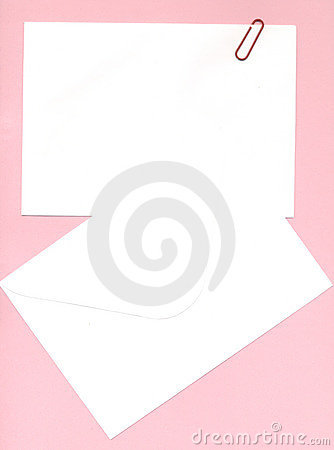 Notepaper and envelope