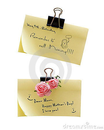 Free Notes About Mothers Day Stock Photo - 13572540