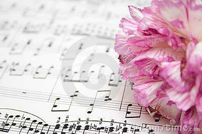 Notes and flower
