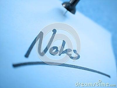 Notes ... I