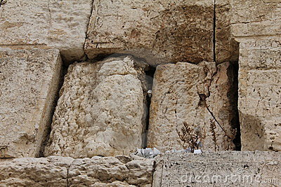Notes in the Wailing Western Wall. Jerusalem