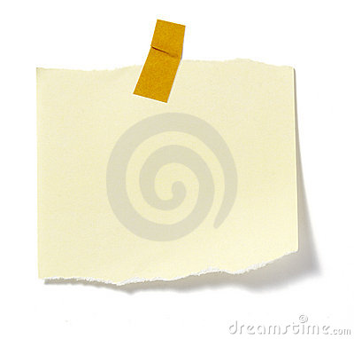 Free Notes With Tape Royalty Free Stock Photo - 10228245