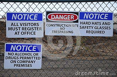 Notice! Job site safety