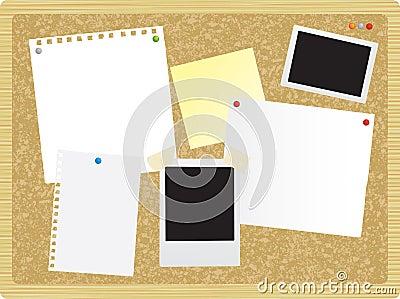 Noticeboard or pinboard