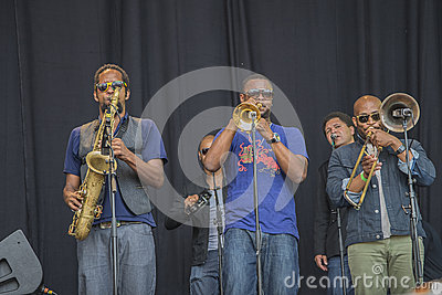 Notodden blues festival 2013, tedeschi trucks band, usa. Editorial Image