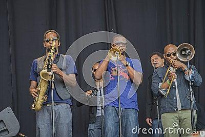 Notodden blues festival 2013, tedeschi trucks band, usa. Editorial Image