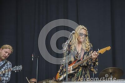 Notodden blues festival 2013, tedeschi trucks band, usa. Editorial Stock Photo