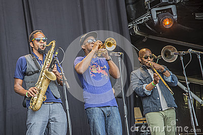 Notodden blues festival 2013, tedeschi trucks band, usa. Editorial Stock Photo