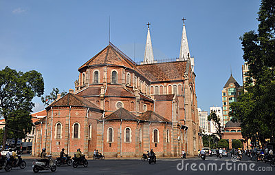 Notre Dame Basilica, Ho chi Minh City, Vietnam Editorial Stock Image