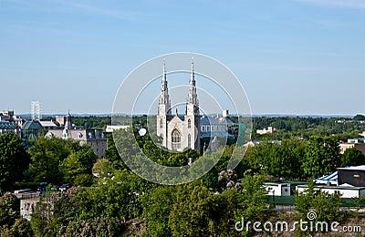 Notre-Dame Cathedral Basilica in Ottawa, Canada
