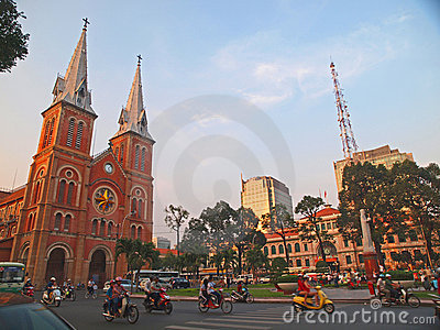 Notre Dame cathedral, Ho Chi Minh City, Vietnam. Editorial Stock Image