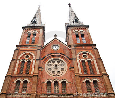 Notre Dame Cathedral in Ho Chi Minh City Vietnam