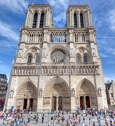 Free Notre-Dame Cathedral, Paris, France Stock Photography - 33545662