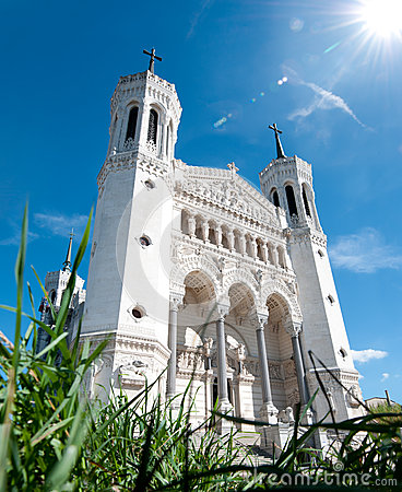 Notre Dame De Fourviere On A Sunny Day. Royalty Free Stock Images - Image: 25590429
