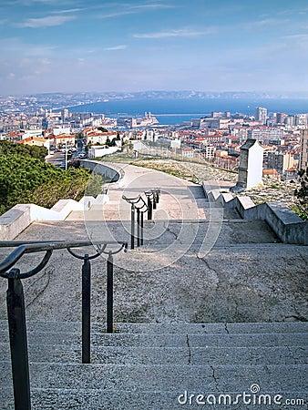 Notre-Dame de la Garde basilica, climb