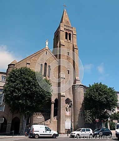 Notre Dame de Lourdes in Bastia Editorial Image